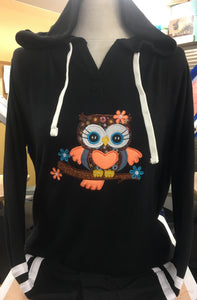 Black Sweater Owl 2X-4X