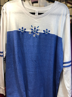 Royal Sparkle Long Sleeve T-Shirt SM-XL
