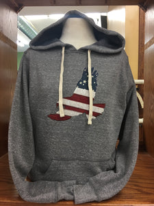 PULLOVER HOODIE WHITE TIES  PATRIOTIC EAGLE SM-XL