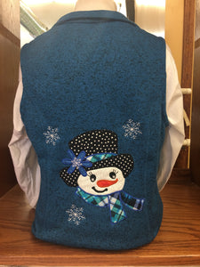 Blue Snowgirl (Sweater) Vest SM-4X