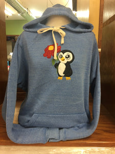 PULLOVER HOODIE WHITE TIES  LIGHT BLUE PENGUIN SM-XL