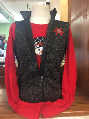 Red Snowgirl (Black) Vest SM-4X