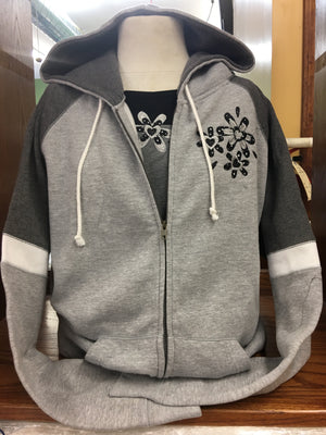 Light Grey/Grey Zip Hoodie Sm-XL