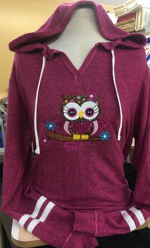 Pink Sweater Owl 2X-4X