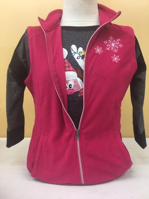 Raspberry Red Mico Fleece Vest 2X-4X
