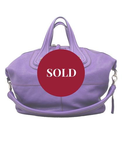 Givenchy Borsa Nightingale Large in Pelle viola -  lesleyluxuryvintage