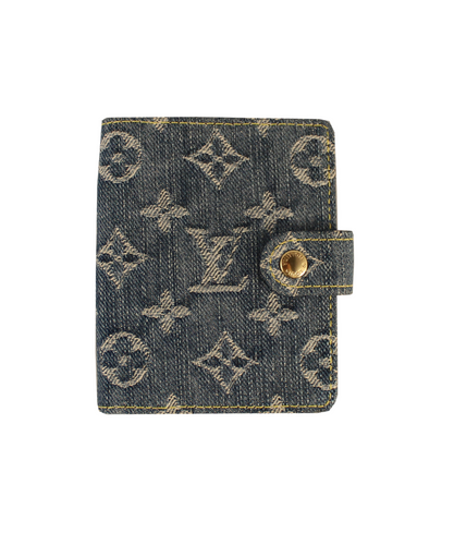 Louis Vuitton Portacarte in denim Monogram -  lesleyluxuryvintage