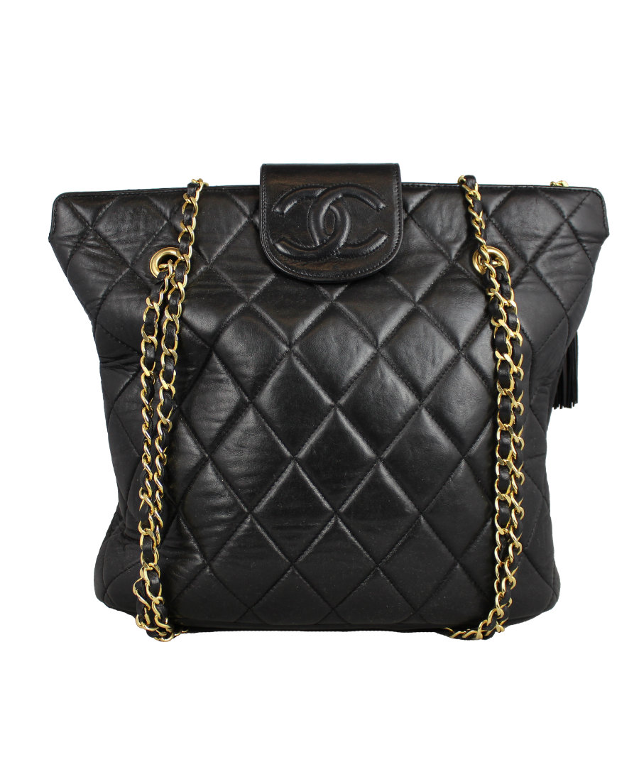 Chanel Borsa a spalla in pelle quilted nera