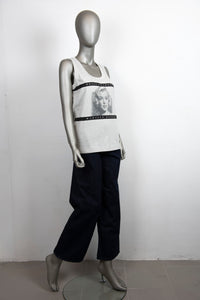 Dolce & Gabbana T-shirt grigia con stampa Marilyn Monroe - Tg. 44