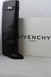 Givenchy Stivali Shark Lock in pelle nera - N. 38