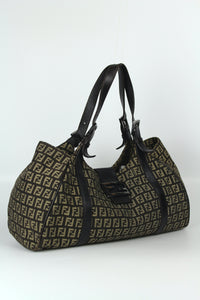 Celine Shopper Twisted Bag in pelle bicolor azzurro e verde -  lesleyluxuryvintage