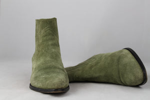 ISABEL MARANT Stivaletto texano in camoscio verde - N. 38