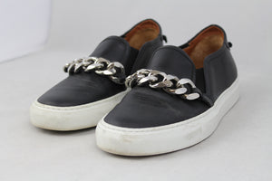 Givenchy Sneakers slip on in pelle nera con catena - N. 37