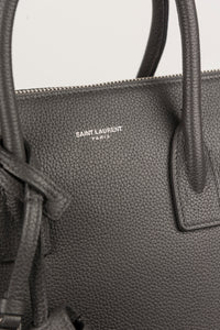Saint Laurent Borsa Sac de jour Nano in pelle color grigio fumo