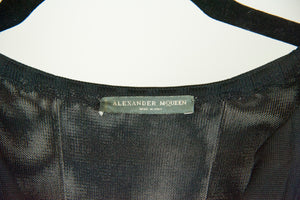 Alexander Mc Queen Abito in maglina nero e blu - Tg. 40
