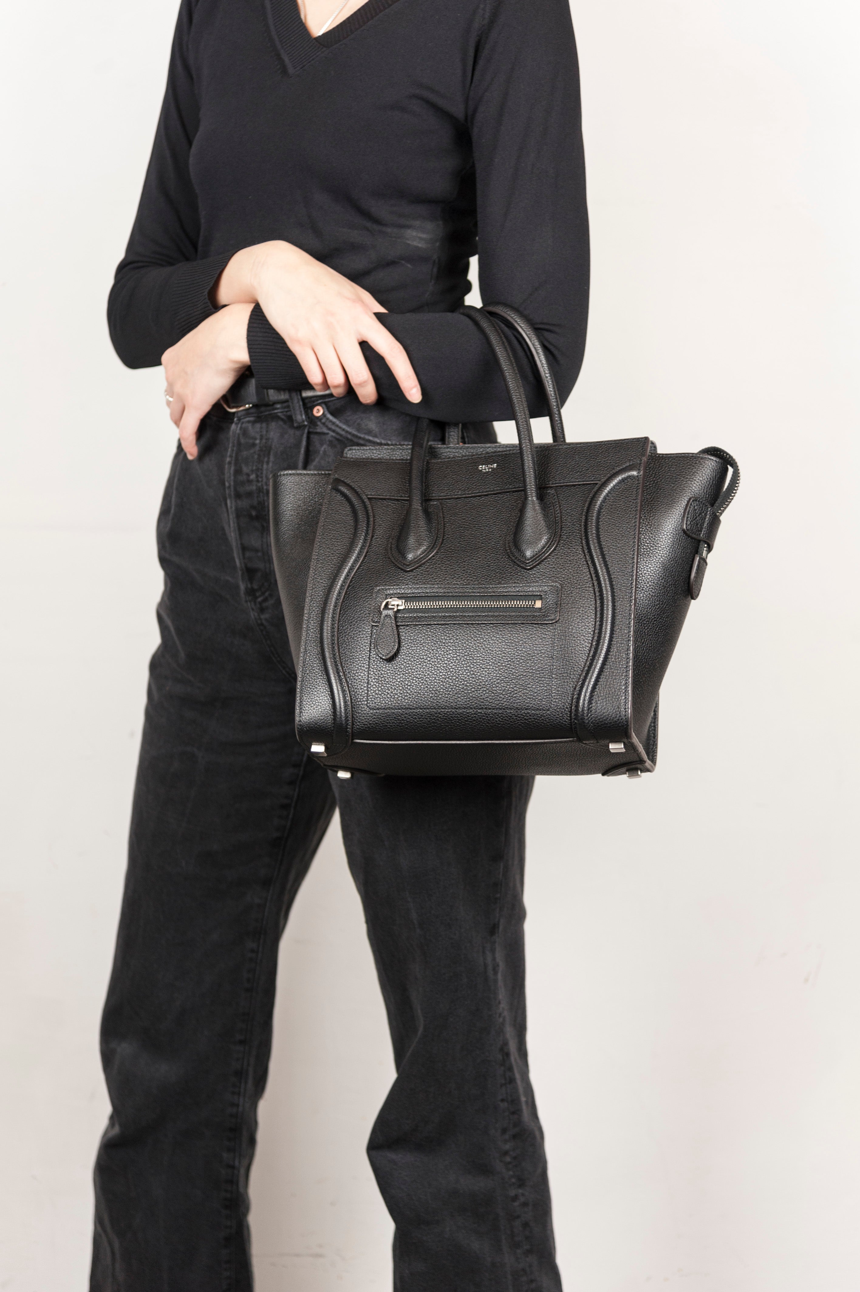 Celine Borsa Luggage Mini in pelle nera