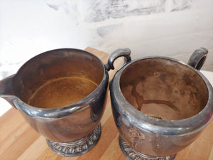Vintage Farmhouse Milk and Sugar Set