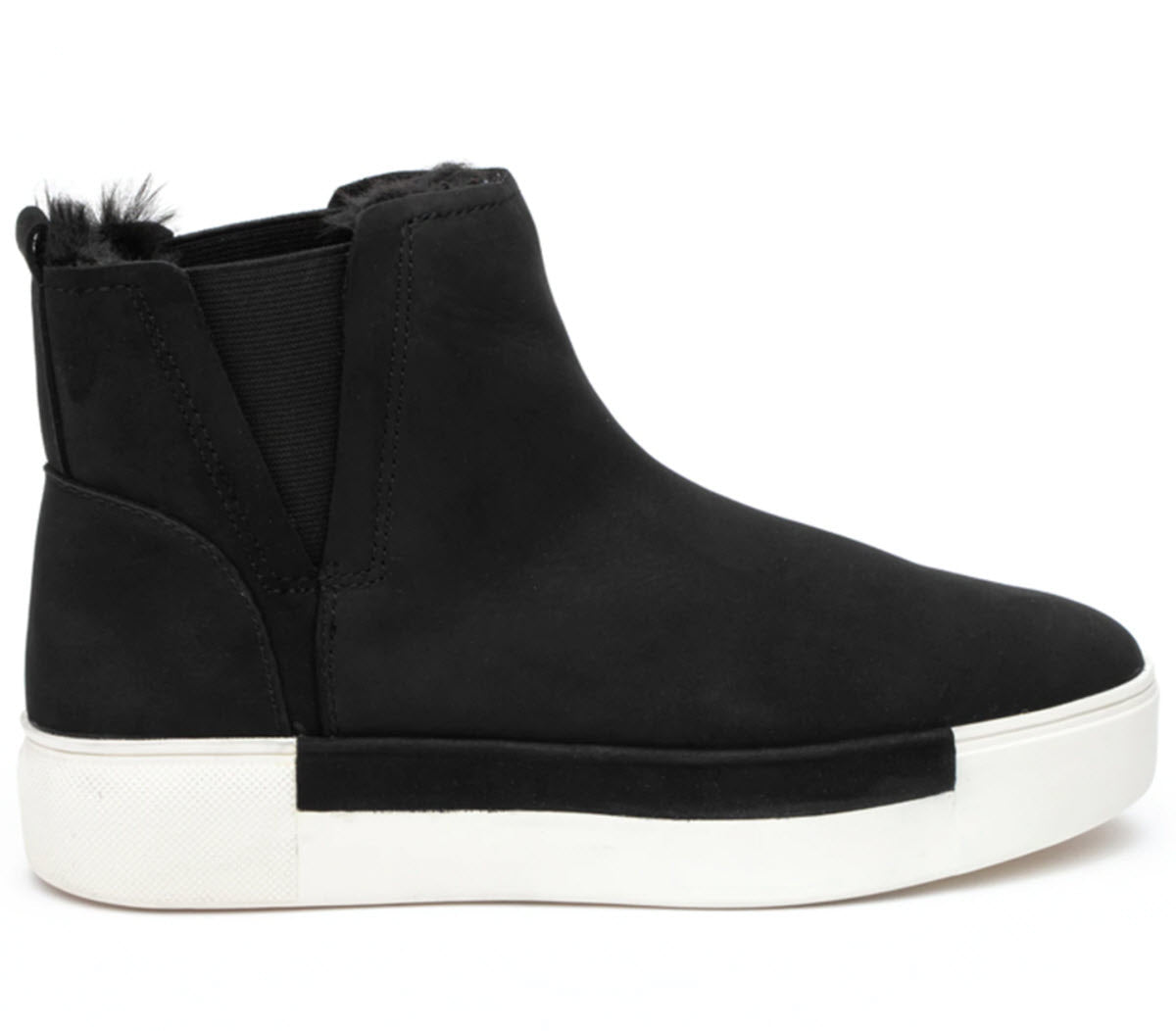The Waterproof Ankle Bootie on Sneaker Sole in Black