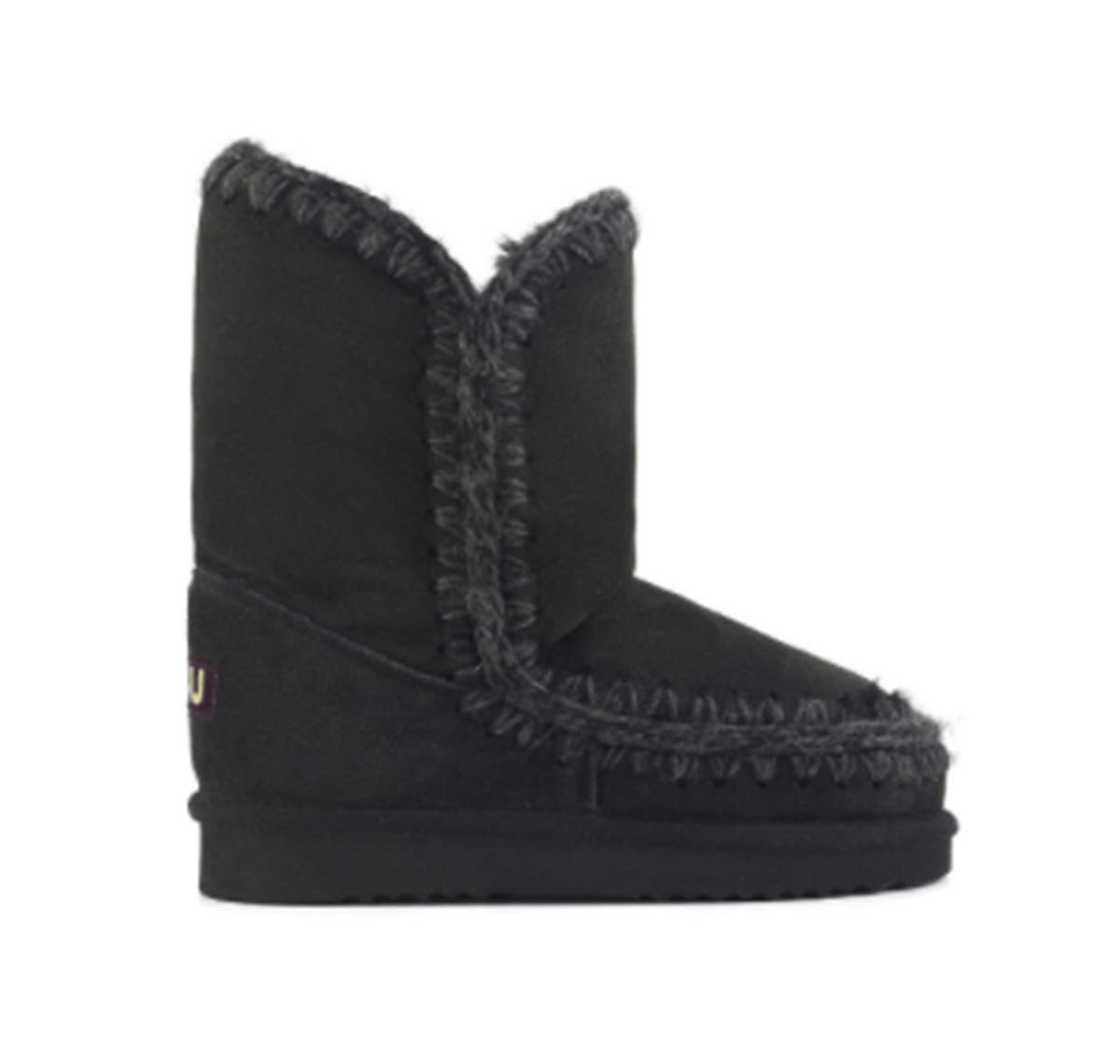 Eskimo - Mou's Iconic Hidden Wedge Bootie in Black