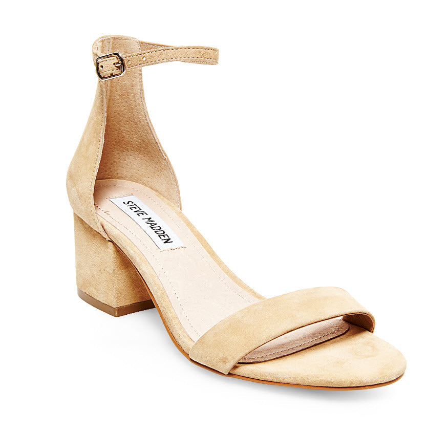 The Block Heel Dress Sandal in Tan