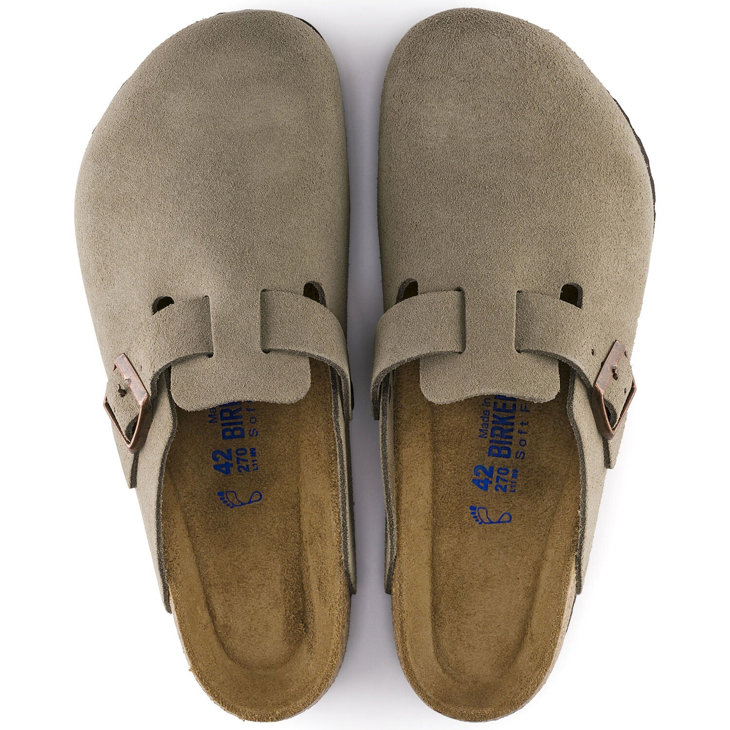 Boston Soft Footbed - The Birkenstock Clog in Taupe