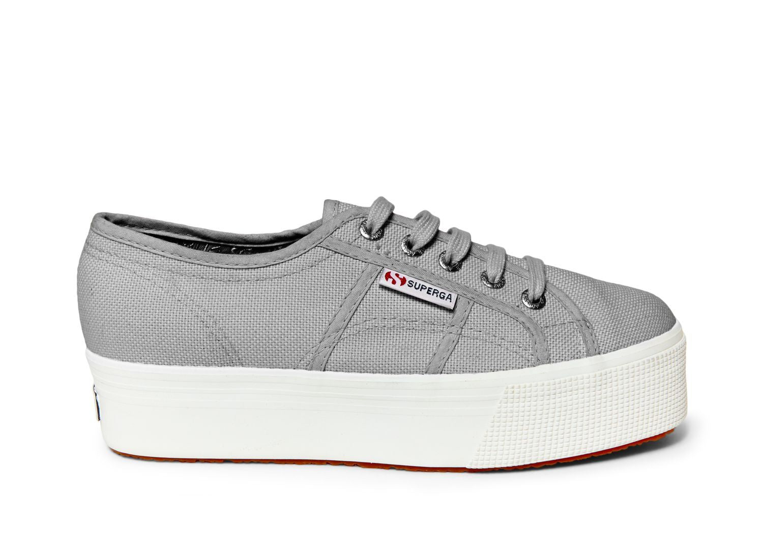 Superga - The Classic Platform Lace Sneaker in Grey Sage