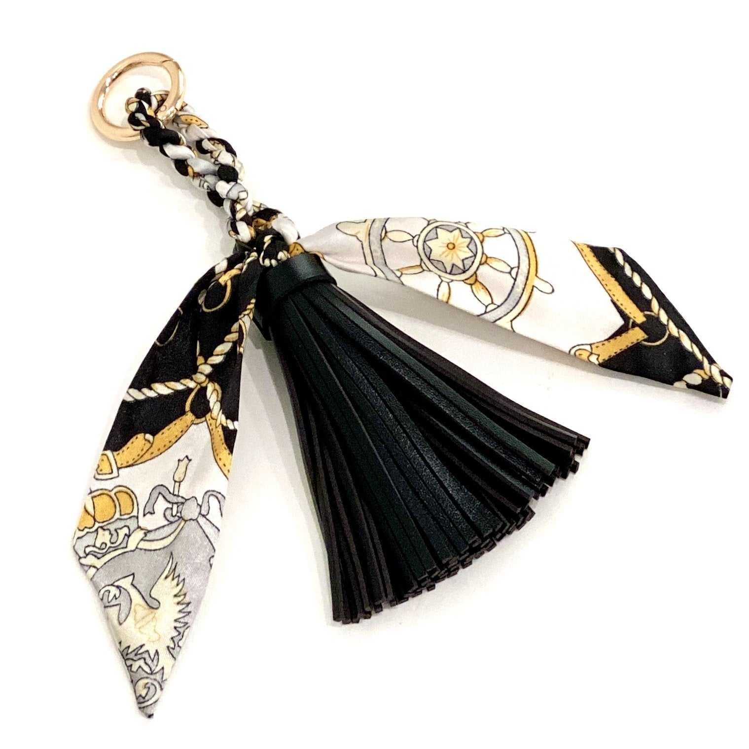 The Tassel Scarf Charm in Black