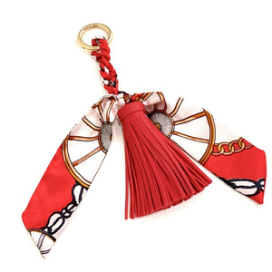 The Tassel Scarf Charm in Red