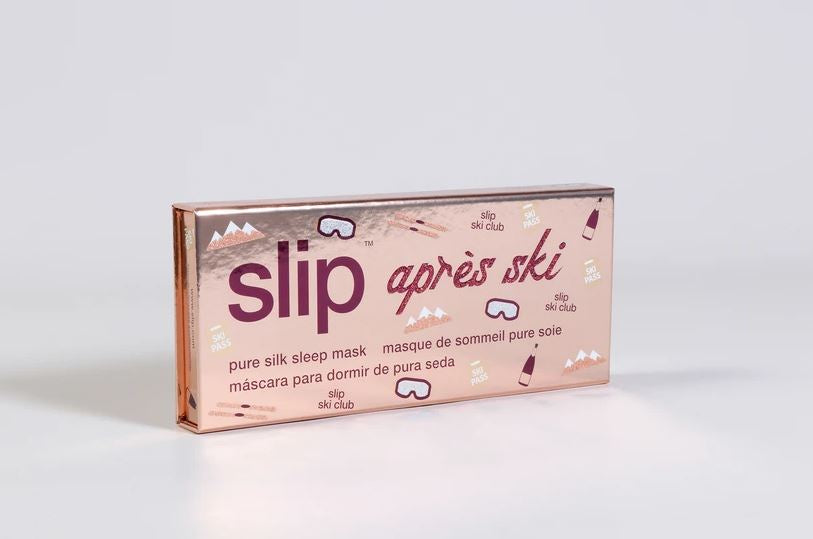 The Apres Ski Silk Sleep Mask in Pink