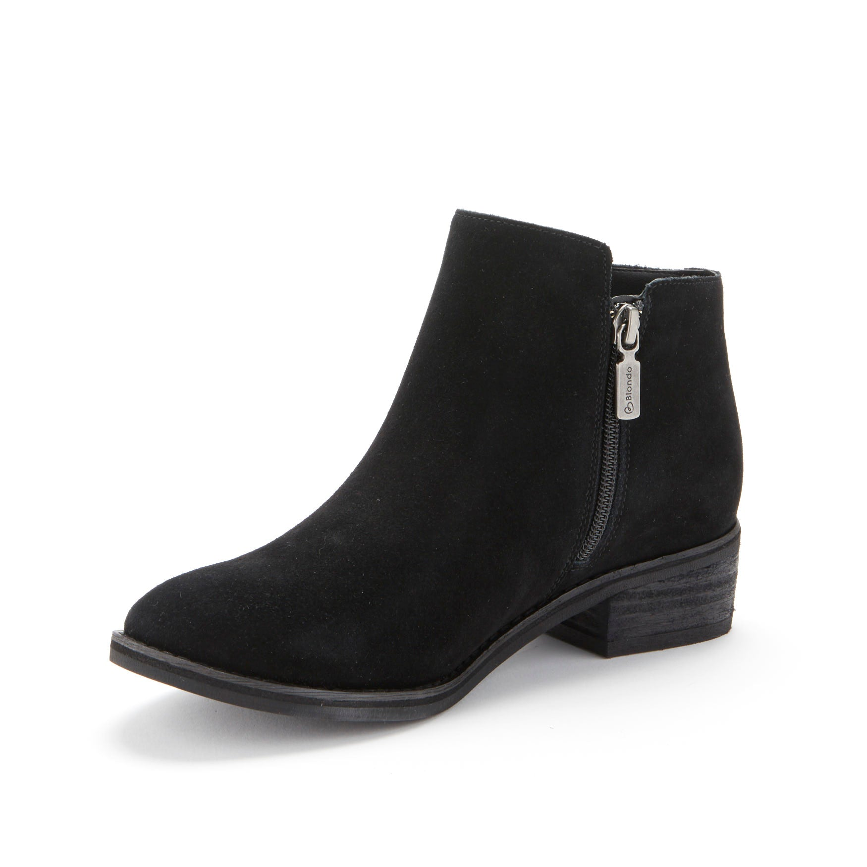 The Twin-Zip Ankle Bootie in Black