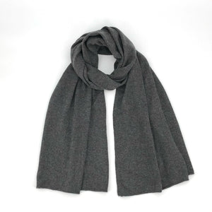 The Cashmere Scarf in Charcoal
