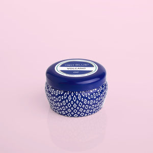 The Volcano Mini Tin Candle in Blue