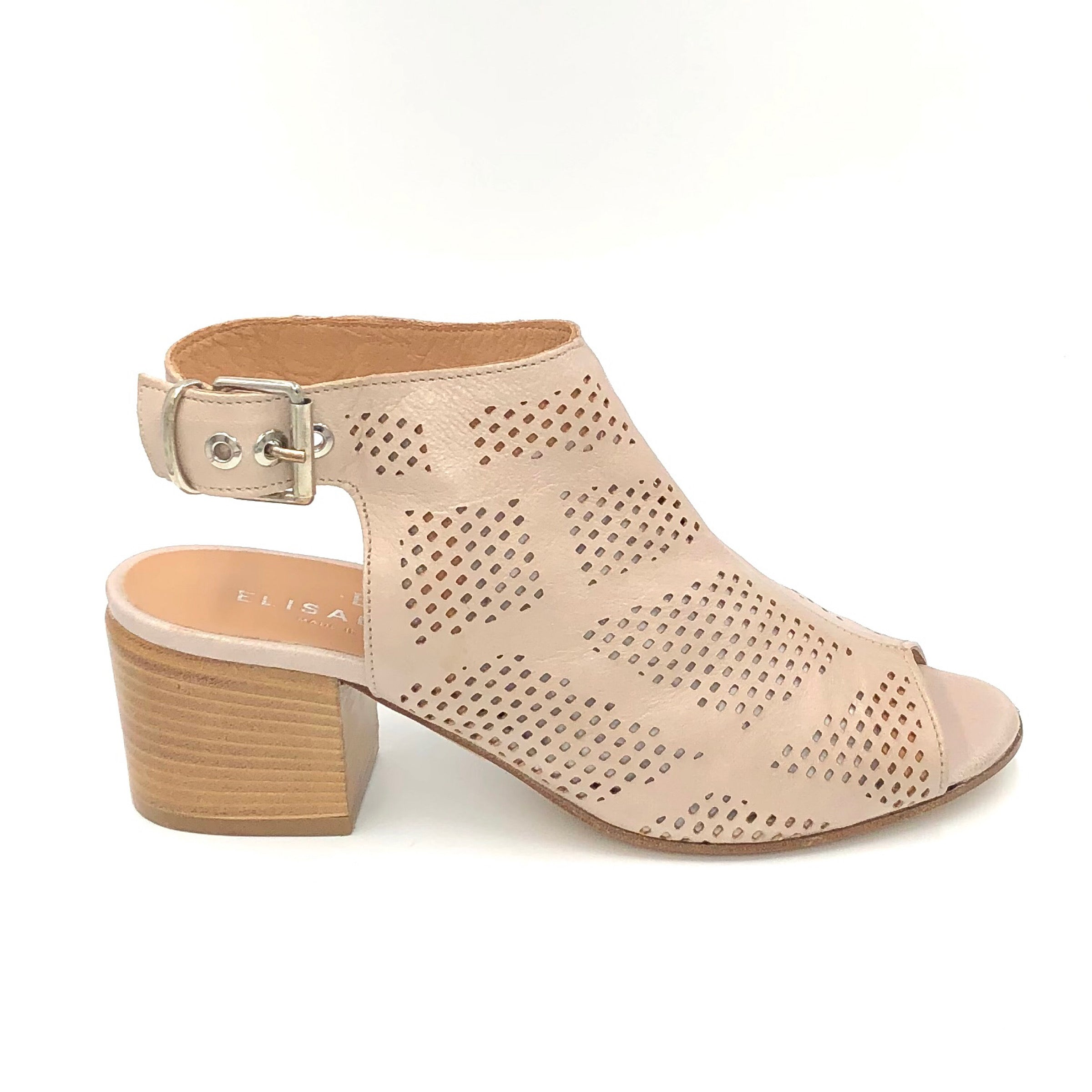 The Laser Cut Transitional Sandal in Perla