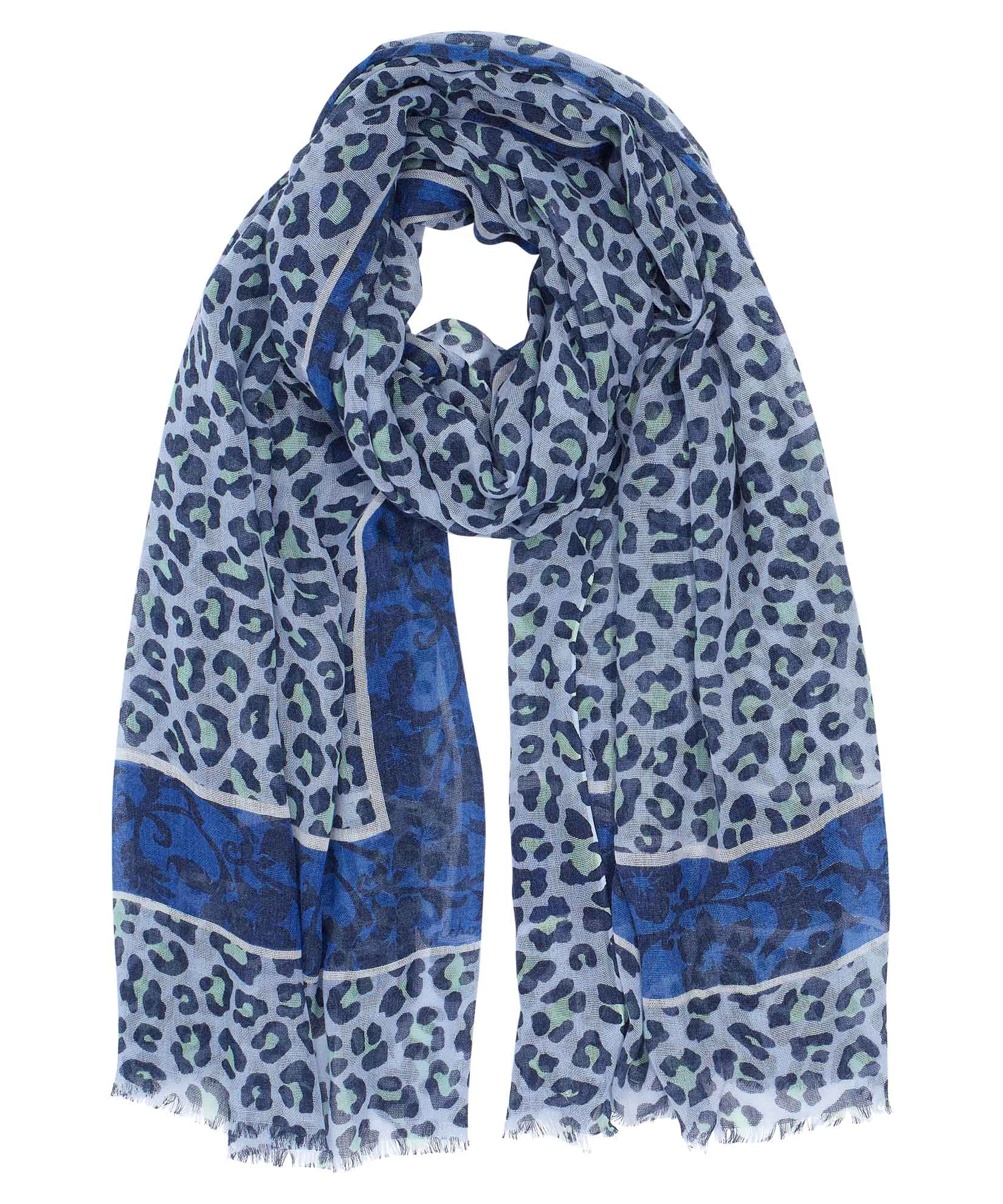 The Cheetah Frame Wrap in Blue