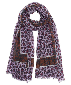 The Cheetah Frame Wrap in Lilac and Brown