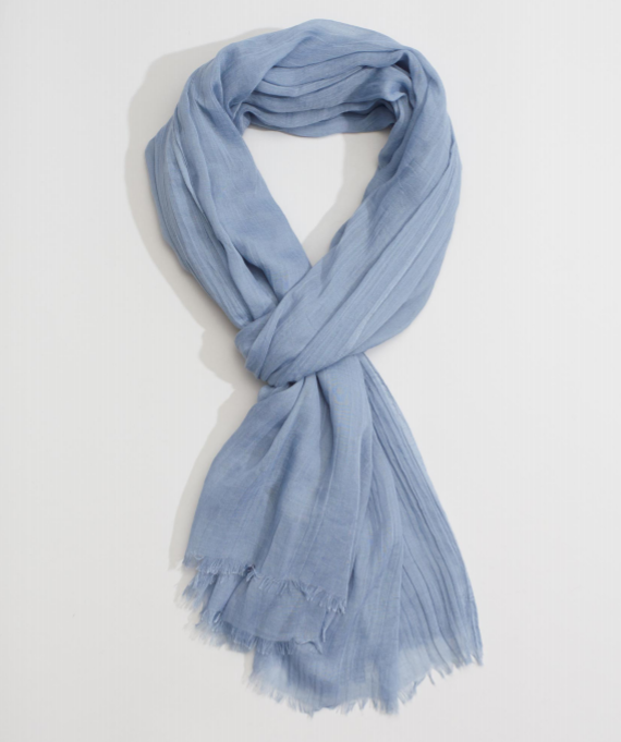 "Echo 806227 - Solid Crinkle Wrap in Chambray by Echo. Super soft with a natural crinkle texture. Oversized yet lightweight, making it a great versatile accessory. 38"" x 72"""