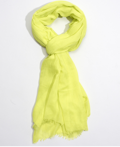 "Echo 806227 - Solid Crinkle Wrap in Citrus Twist by Echo. Super soft with a natural crinkle texture. Oversized yet lightweight, making it a great versatile accessory. 38"" x 72"""