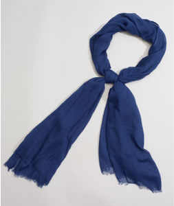 "Echo 806227 - Solid Crinkle Wrap in Navy by Echo. Super soft with a natural crinkle texture. Oversized yet lightweight, making it a great versatile accessory. 38"" x 72"""