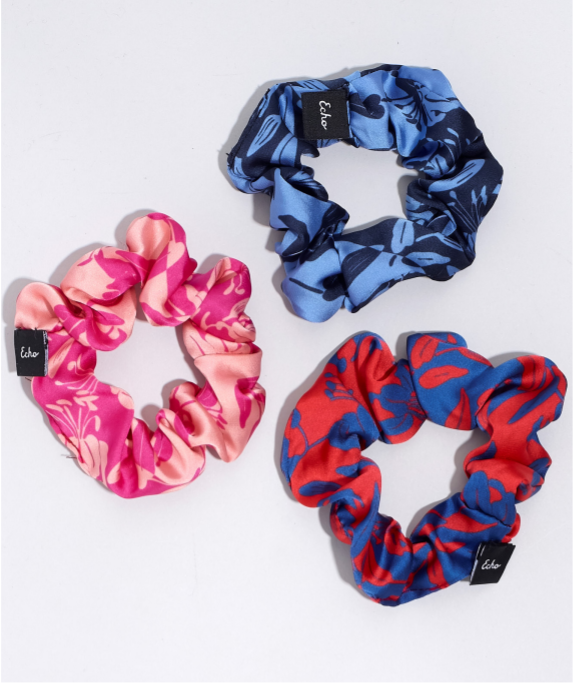 Echo EN0885 - Small Scrunchie Set in Passion Flower by Echo. These hair ties are gentle on your hair, but big on the fun factor. Sold in a pack of 3.
