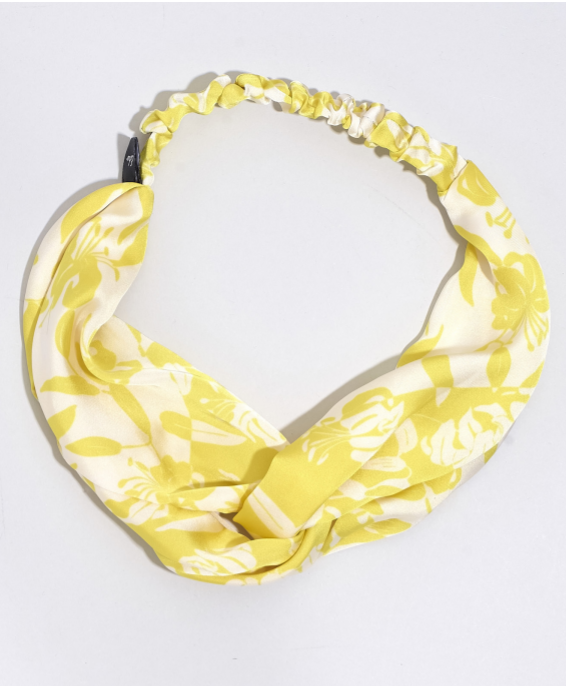 Echo EN0888 - Soft Twist Headband in Yellow Print by Echo. Fun patterns with a twist. These headbands can turn any bad hair day into a good one.