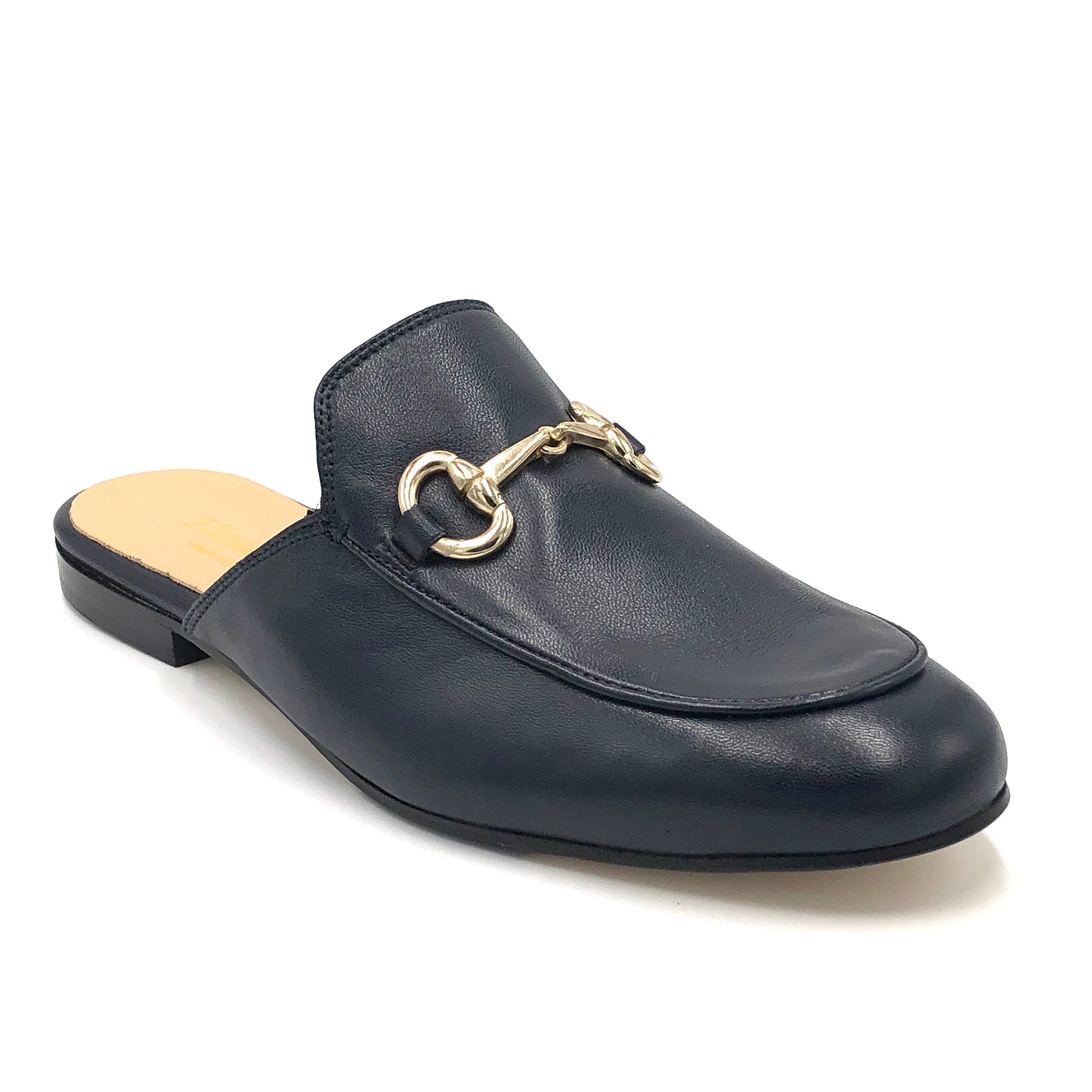 Bitmule - The Loafer Mule with Bit in Navy