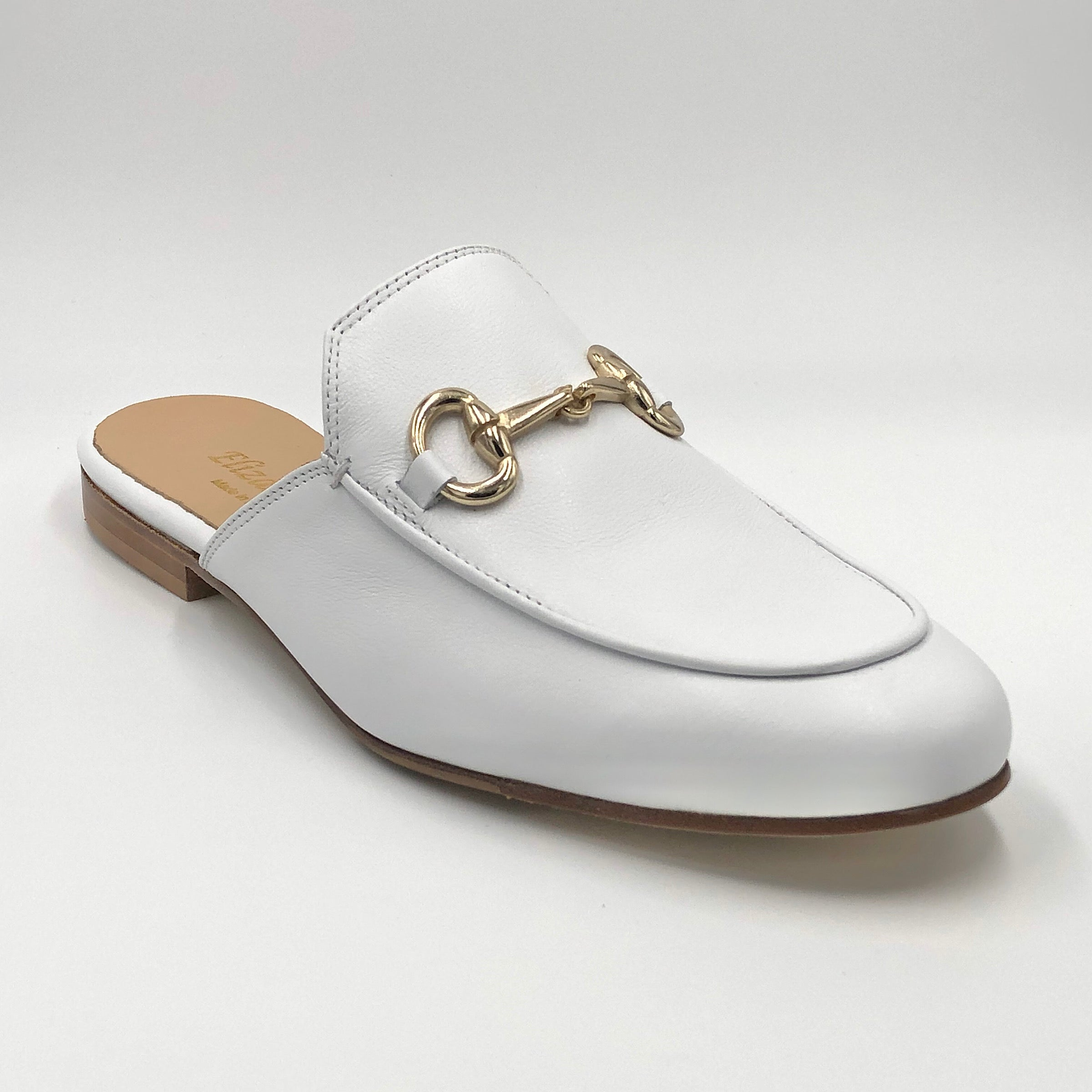 Bitmule - The Loafer Mule with Bit in White