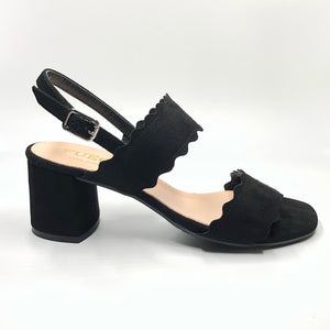 Scallop 2 - The Perfect Sandal in Black