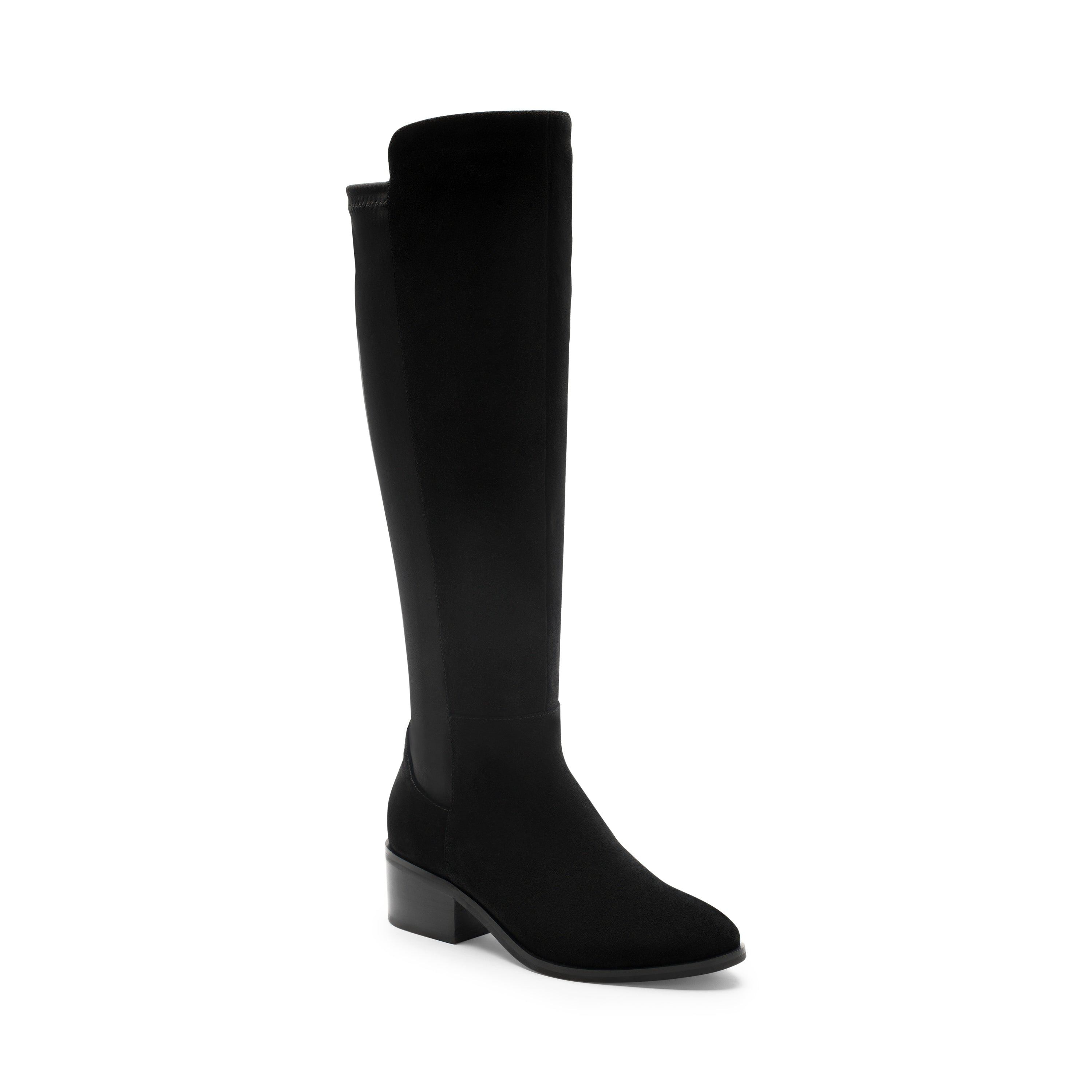 The Waterproof Tall Boot with Stretch Back in Black
