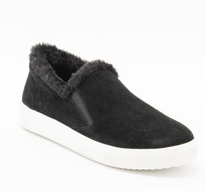 The Cozy Slip-On Sneaker in Black