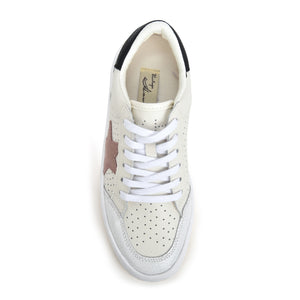 The New Star Perforated Lace Sneaker in White Taupe