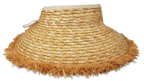 "Hat Attack BVA157 - Packable Travel Visor by Hat  Attack. Chic packable visor can roll up easily into your bag. Perfect for summer ponytails or top knots. Crown height is 2"" and Brim is 6.5"". Spot Clean with damp cloth."