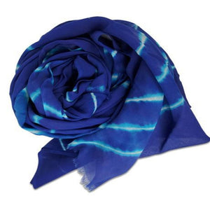 "Hat Attack BVF415 - Tie Dye Sarong in Blue by Hat Attack. Enjoy this colorful sarong as a cover up or scarf. It can also be used as a beach blanket or for a picnic. Length 70"", Width 43"". Wash separately in cold water."