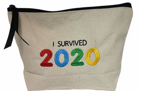 "The ""I Survived 2020"" Pouch in Cream"