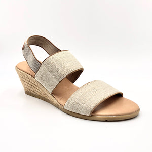 Betty - The Elastic 2 Band Espadrille in Natural Linen